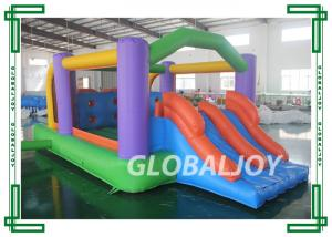 China PVC Tarpaulin Outdoor Mini Adorable Inflatable Bounce House With Slide on sale