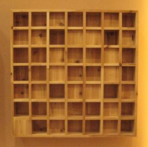 China Square / Cubic Pattern Ceiling Acoustic Diffuser / Wood Diffuser Panel on sale