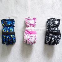 China 2017 Sport Fashion Cheap hot sale men girl Winter ski gloves 12*24cm 135g 100%polyester on sale