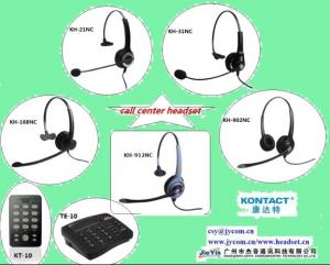 Kontact contact center telephone headset and headset dial