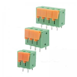 China 5.08mm Pitch PCB Screwless Spring Terminal Block Vertical Wiring Entry on sale