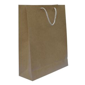 China brown paper bags with handles wholesale on sale