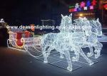 christmas horse lighted carriage
