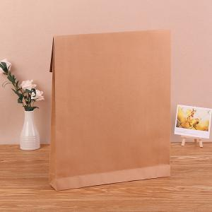 China Biodegradable Blank Kraft Paper Bag With Gravure Printing Surface on sale