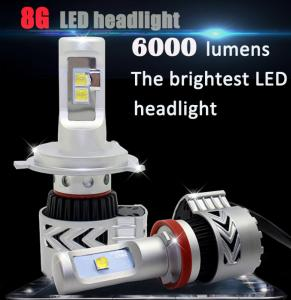 China 8th GENERATION (8G)  LED HEADLIGHT 6000lm auto lamp for car on sale