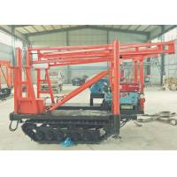 Track Mounted DTH Drilling Rig , 180m Drilling Depth Hydraulic Core Drilling Rig