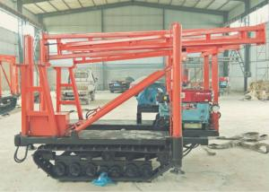 China Track Mounted DTH Drilling Rig , 180m Drilling Depth Hydraulic Core Drilling Rig on sale