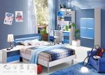 Blue Color Environmental Paint Kids Bedroom Furniture Sets For Boys , Easy To Assembly