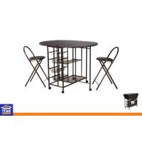 Folding Metal Dinning Table and Chairs Sets , Dining Room Table Chairs With Wheels KTD-81013