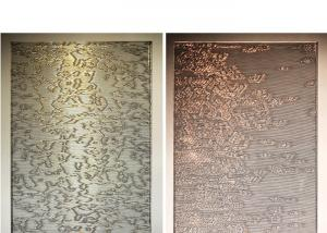 China Partition Wall Decoration Fabric Laminated Glass With Metal Wire Mesh And PVB on sale