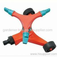 China Plastic 3-Arm Garden Water Sprinkler With Wheel Base on sale