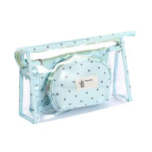 China Travel PVC Cosmetic Bag Zipper Seal Clear Makeup Bag Set on sale