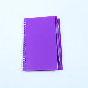 China Lightweight Spiral Bound Book Printing Promotion Gift PP Notebook With Pen on sale