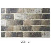 China 3D51-2 Clay Thin Veneer Brick Low Water Absorption For Interior /Outdoor Brick Veneer on sale