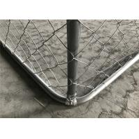 China chain link/cyclone /hurrican dog kennel fencing 4'x6' x 10' chain mesh fabric 50mm x 50mm on sale