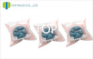 China Pink Small Resealable Plastic Bags With Clear Window , Snack Packaging Without Zipper on sale