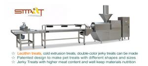 China High Efficiency Animal Feed Extruder , Cold Extrusion Pet Chewing Treat Machine on sale