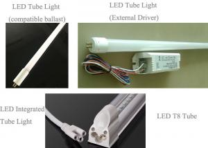 China 7w - 30w Compatible Led T8 Tube Light Bulbs High Lumen Easy Installation on sale
