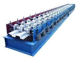 China 380v colored iron floor double deck roll forming machine, rollforming machines on sale