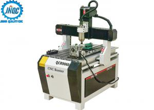 China 4th Rotary Axis Hobby CNC Router Machine for Aluminum Wood MDF on sale