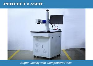 China High Speed Fiber Laser Marking Machine For Transparent Glass / Acrylic Materials , 60 Watt on sale