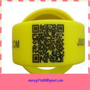 China wide qr code custom silicone bracelet / silicone wristband on sale
