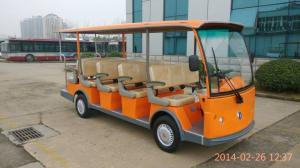 China EQ8141 72V 5kw(7.5kw) 14 passenger electric shuttle/tourist bus with gear box on sale