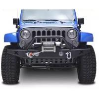 China Competitive price Steel black Bull Bar for 07+ Wrangler JK vehicles bumper on sale