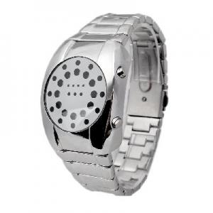 China Digital Mens Stainless Steel Wrist Watch on sale