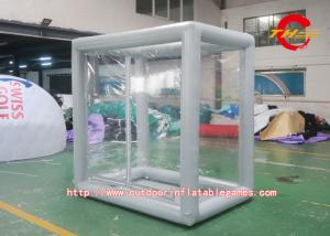 China Durable Adult Bicycle Inflatable Transparent Tent Gray PVC Small on sale