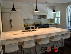 Neobon solid surface Modern home bar counter design for sale ...