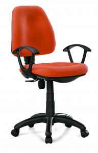 China Manager & Staff Fabric Computer Chair , Modern Orange Fabric Task Chair on sale