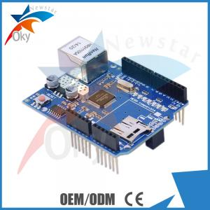 China Micro-SD Arduino Shield , Ethernet W5100 Sheild Network Expansion Board on sale