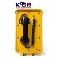 Aluminium Alloy Weatherproof  Line Powered Telephone Auto Dial Yellow