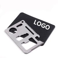 China Functional Outdoor Promotional Tool Card Stainless Steel Tool Card Logo Customized on sale