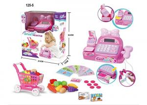 China Unisex Electronic Cash Register Shopping Cart Children's Play Toys Light & Sound on sale
