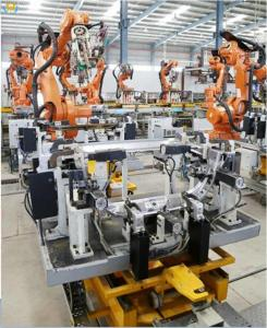 China Spot Robotic Welding Systems With Fixture Switching Device Advantage For Automotive Parts on sale