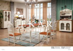China Concise Dining Room Furniture Wood Dining Table on sale