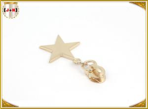 China Imitation Gold Plating Metal Zipper Pulls Die Casting Alloy Products Star Shape on sale