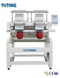 China High Speed Double Heads Tubular Embroidery Machine on sale