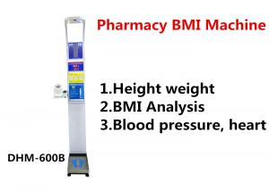 Quality Pharmacy Height And Weight Measuring Scale With Blood Pressure Machine DHM - for sale