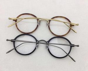 China Vintage Men Women Pure titanium spetacle eyeglass glasses combinated optical frames with clear lens on sale