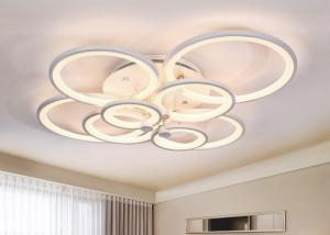 China Multi Heads Lighting Area 15m2 LED AC85V Circle White Indoor Hanging Light on sale