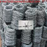 Barbed Wire Length Per Roll Wire Diameter 2.5MM*2.2MM/Stadium galvanized military barbed wire length per roll