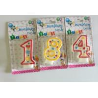 0-9 pink Number candles