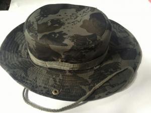 China Men's Cheap Custom Hat Striped Woodland Desert Camouflage Boonie Hat on sale
