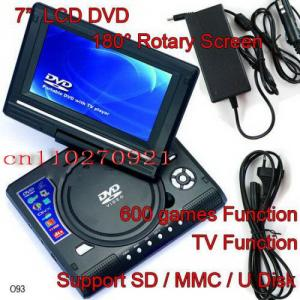 "China 7.5"" Portable DVD Player Mp3+TV+MP4+USB+SD+GAME+Remote on sale"