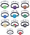 Braceletes de vidro dos projetos da mistura 6 do bracelete da flor da joia bonita