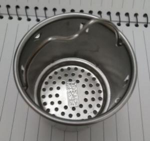 China Stainless steel Perforated Cup strainer filter|Alkaline Water Cup Infuser Strainer on sale