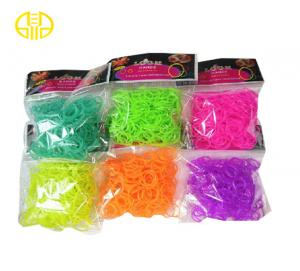China Rainbow Loom Rubber Band With Iridescent , Mini Hook And S Clips on sale